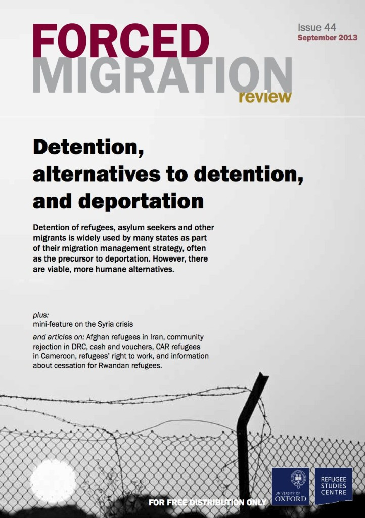 Forced Migration Review: free detention themed edition