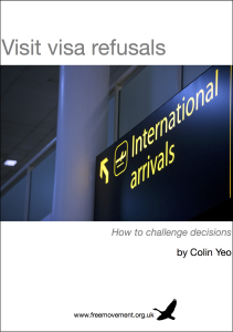 Visit visa refusals book cover