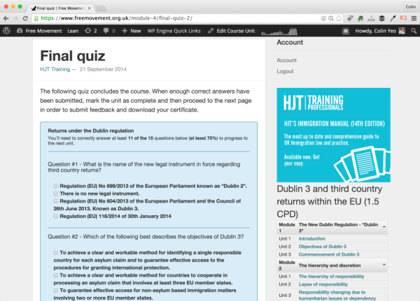 Final quiz screenshot