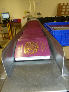 Passport production line