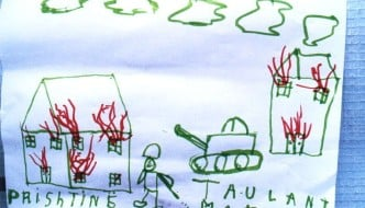 Refugee child drawing