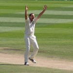 Umpire appeal at cricket match