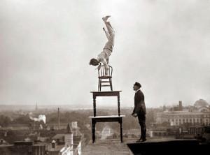 Balancing act. By Josh