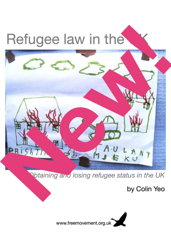 Refugee law in the UK cover – new!