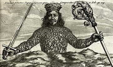 Charles I as Leviathan by Hobbes