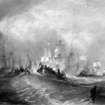 Prince of Orange Landing at Torbay, engraving by William Miller after J M W Turner