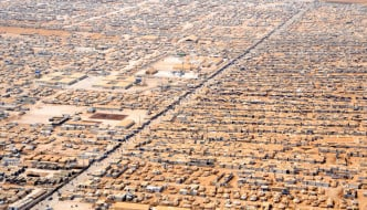 Za'atri Refugee Camp for Syrian refugees in Jordan