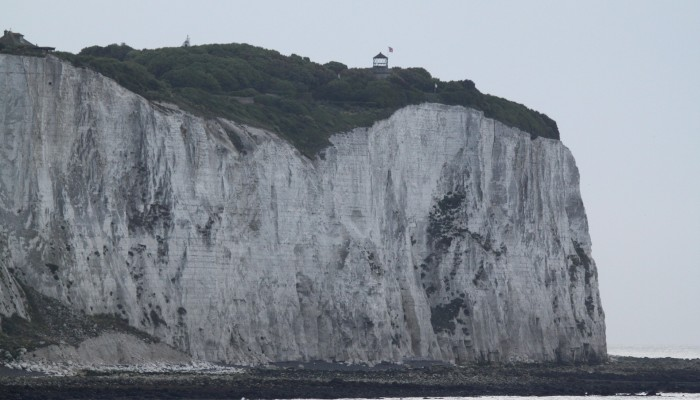 The welcoming white cliffs of Dover