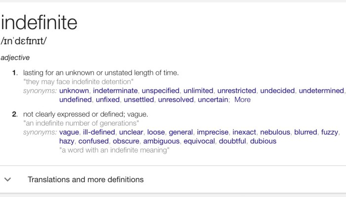 definition of indefinite detention