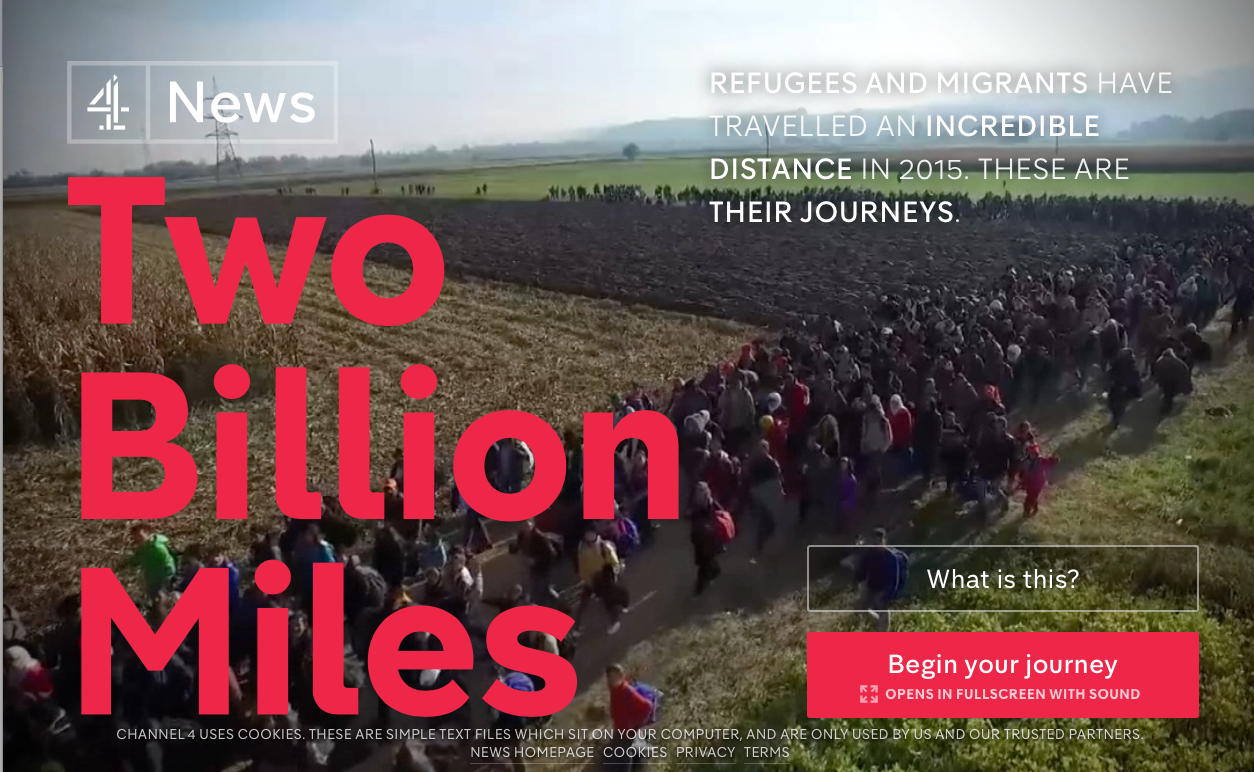Two Billion Miles: interactive video on the refugee journey from Channel 4