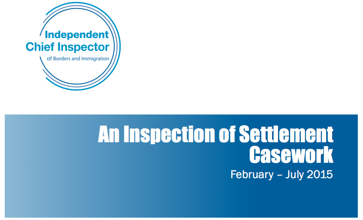 Chief Inspector report on settlement applications finds room for improvement