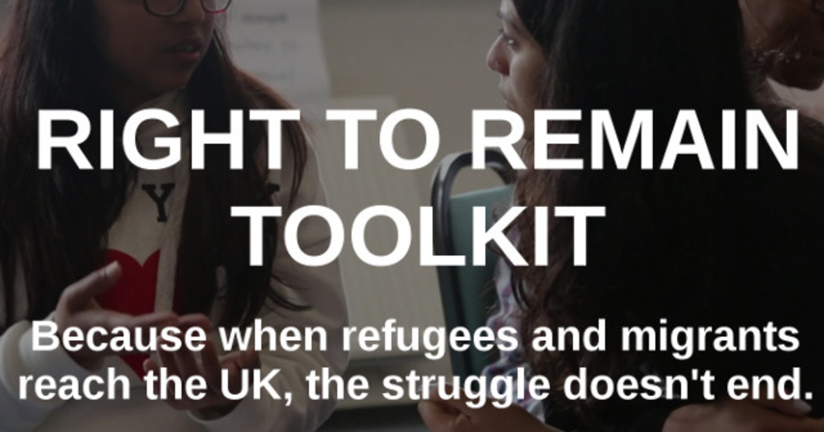 Right to Remain fundraising for new Toolkit for migrants and refugees: please support