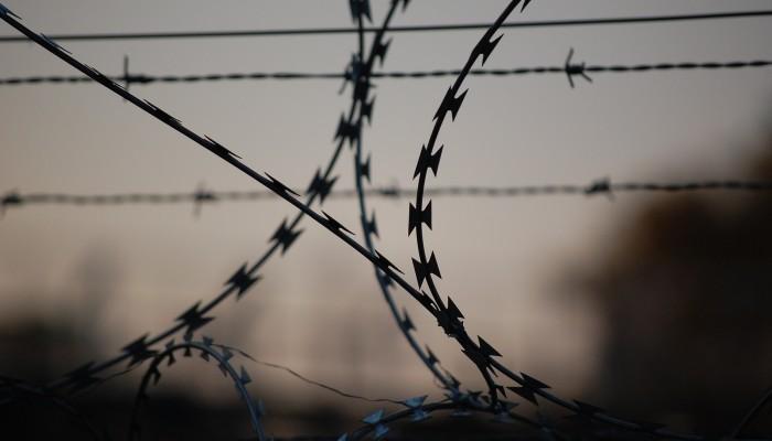 barbed wire prison detention