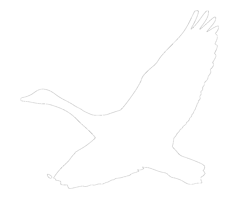 Goose logo white