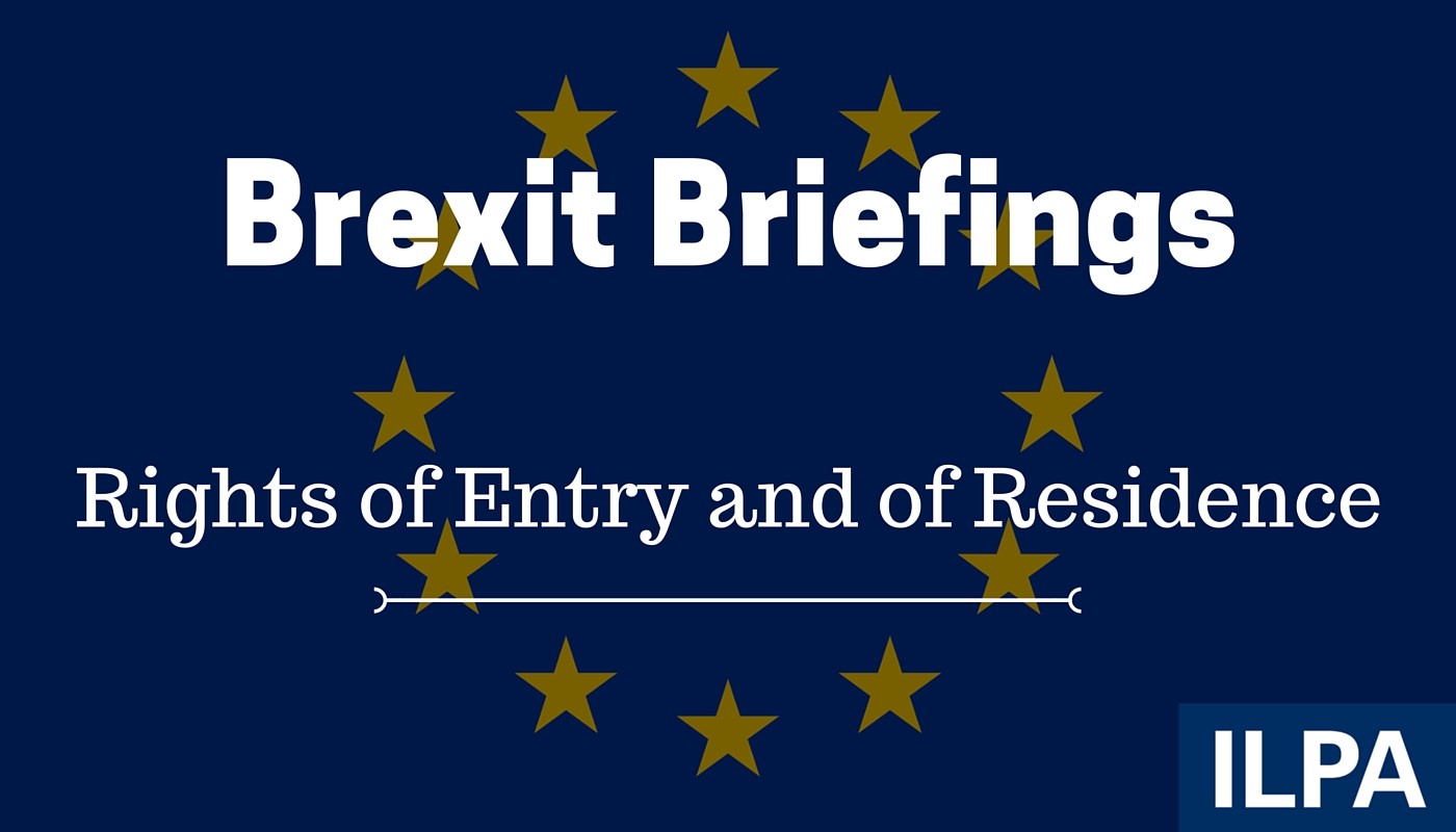 Brexit briefing: rights of entry and residence