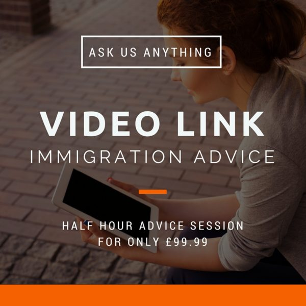 Video link immigration advice