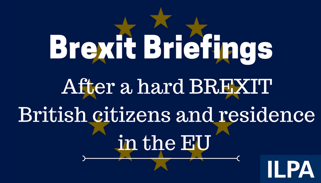 After a hard BREXIT: British citizens and residence in the EU