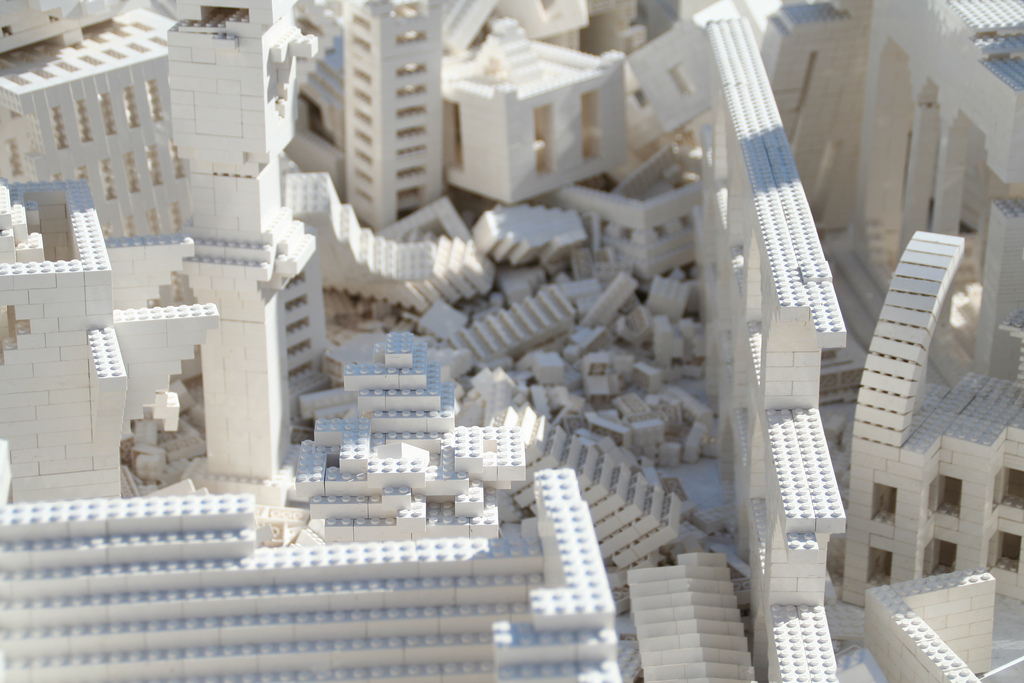 collapse lego building