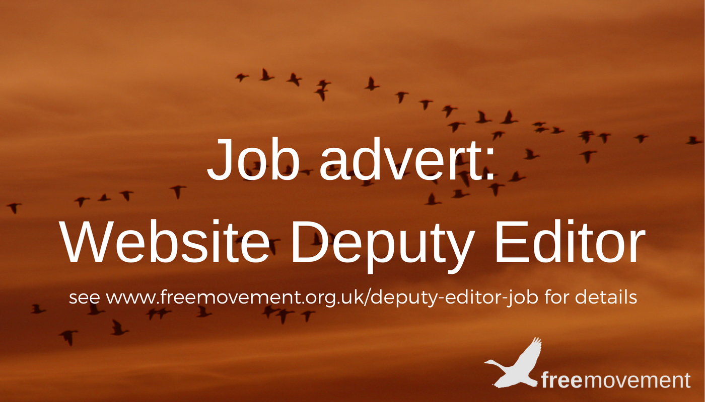 Deputy Editor recruitment: deadline is 31 July 2017