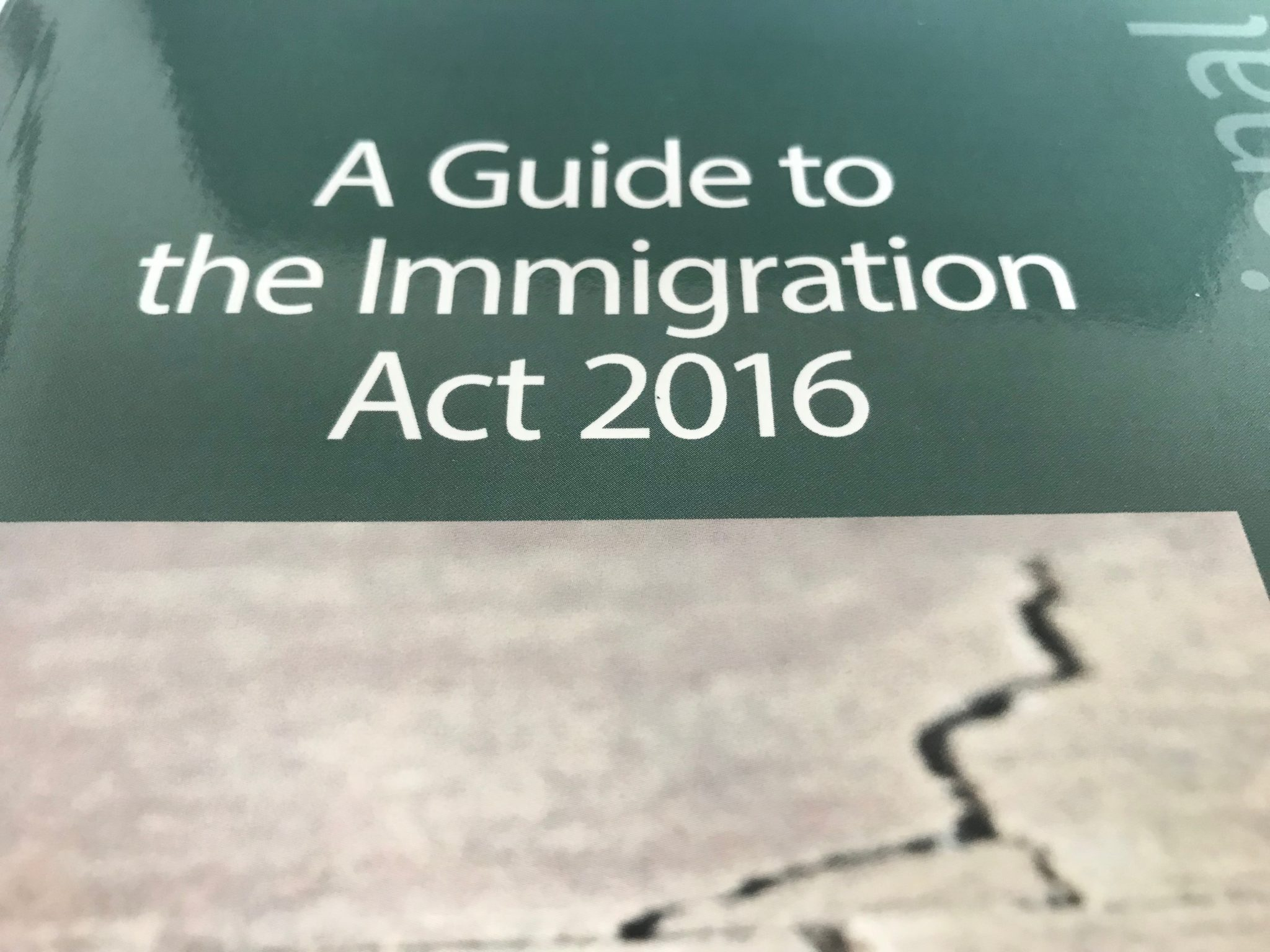 Book review: A Guide to the Immigration Act 2016 by Alison Harvey and Zoe Harper
