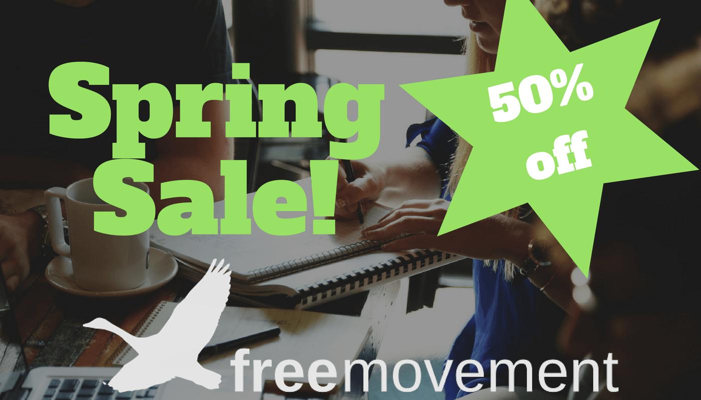 Half price on Free Movement membership for new members