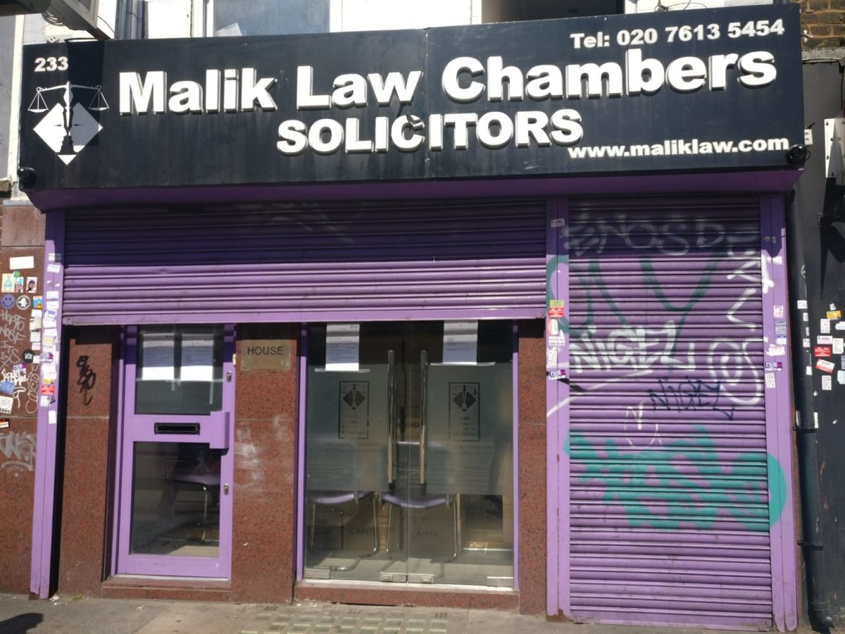 Malik Law Chambers solicitors shut down by regulator
