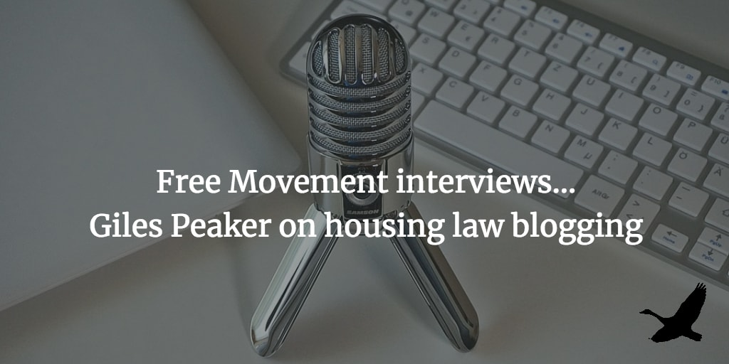 Interview: Giles Peaker on housing law blogging