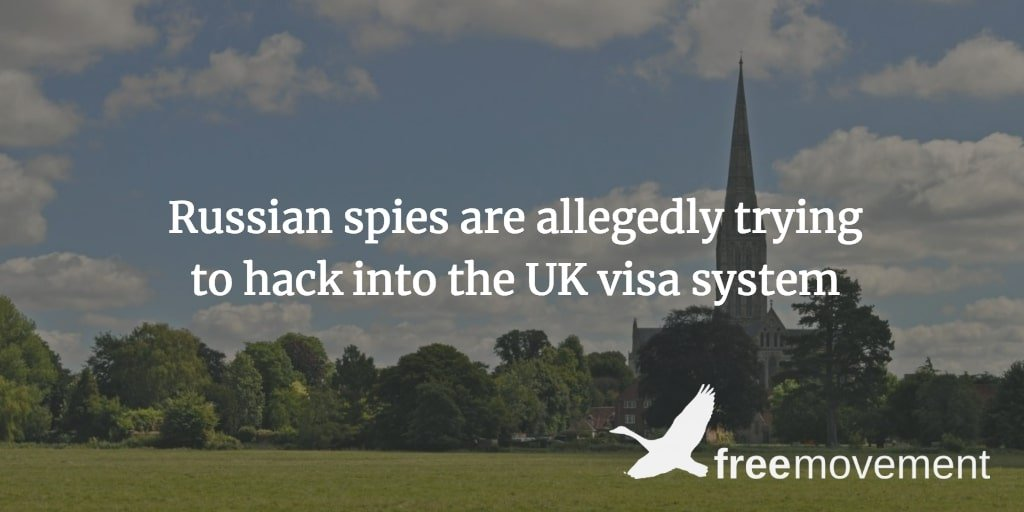 Russian spies are allegedly trying to hack into the UK visa system