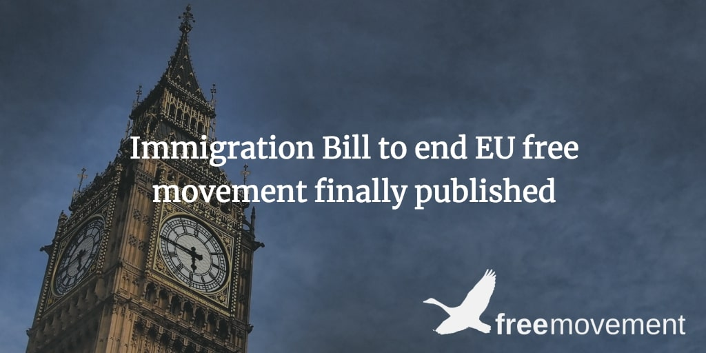 Immigration Bill to end EU free movement finally published