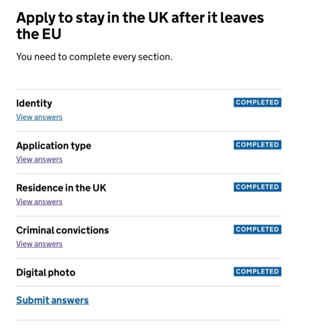 Application Form For British Citizen, Sections Will Show Up As Completed Already Because That Is Done Via The App The Applicant Will Need To Fill In The Sections On Application Type, Application Form For British Citizen