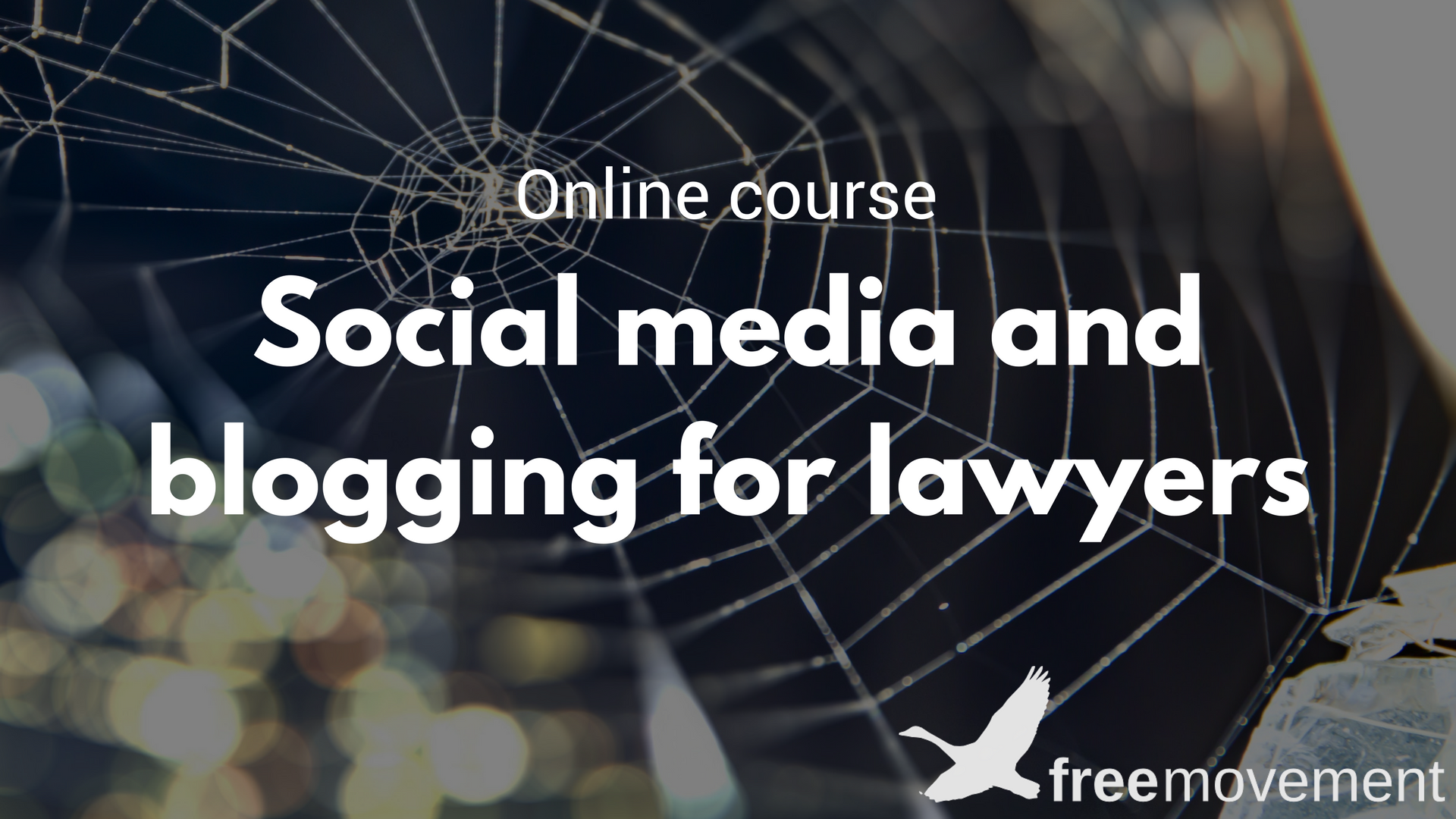 Social media and blogging course