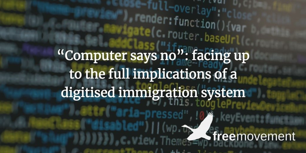 """Computer says no"""": facing up to the full implications of a digitised"""
