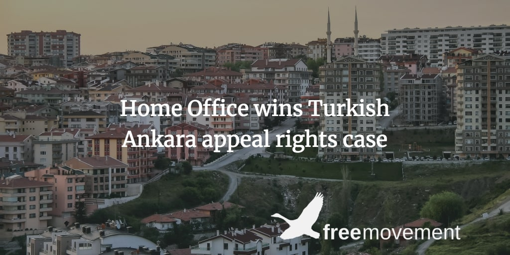 Home Office wins Turkish Ankara appeal rights case