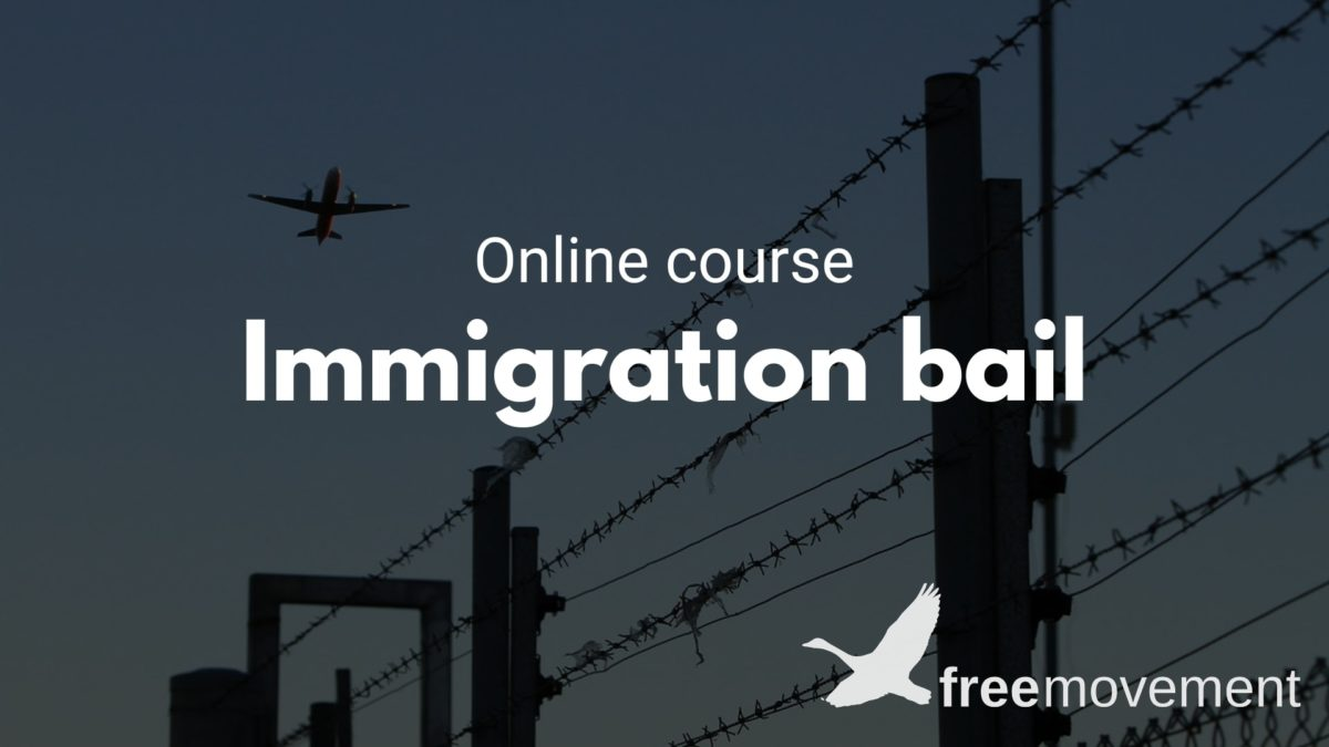 New immigration bail training course out now