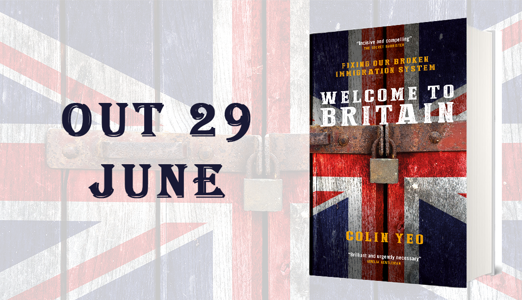 Online launch for Colin's book Welcome to Britain: Fixing Our Broken Immigration System