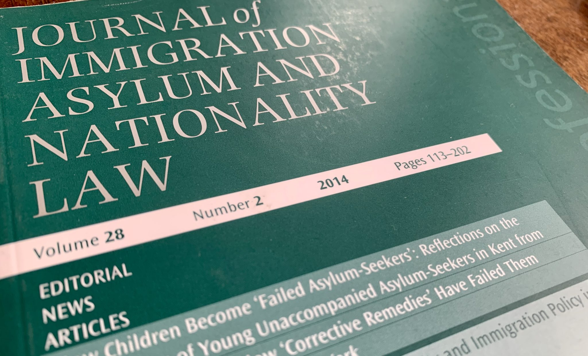 Deputy editor sought for Journal of Immigration, Asylum and Nationality Law